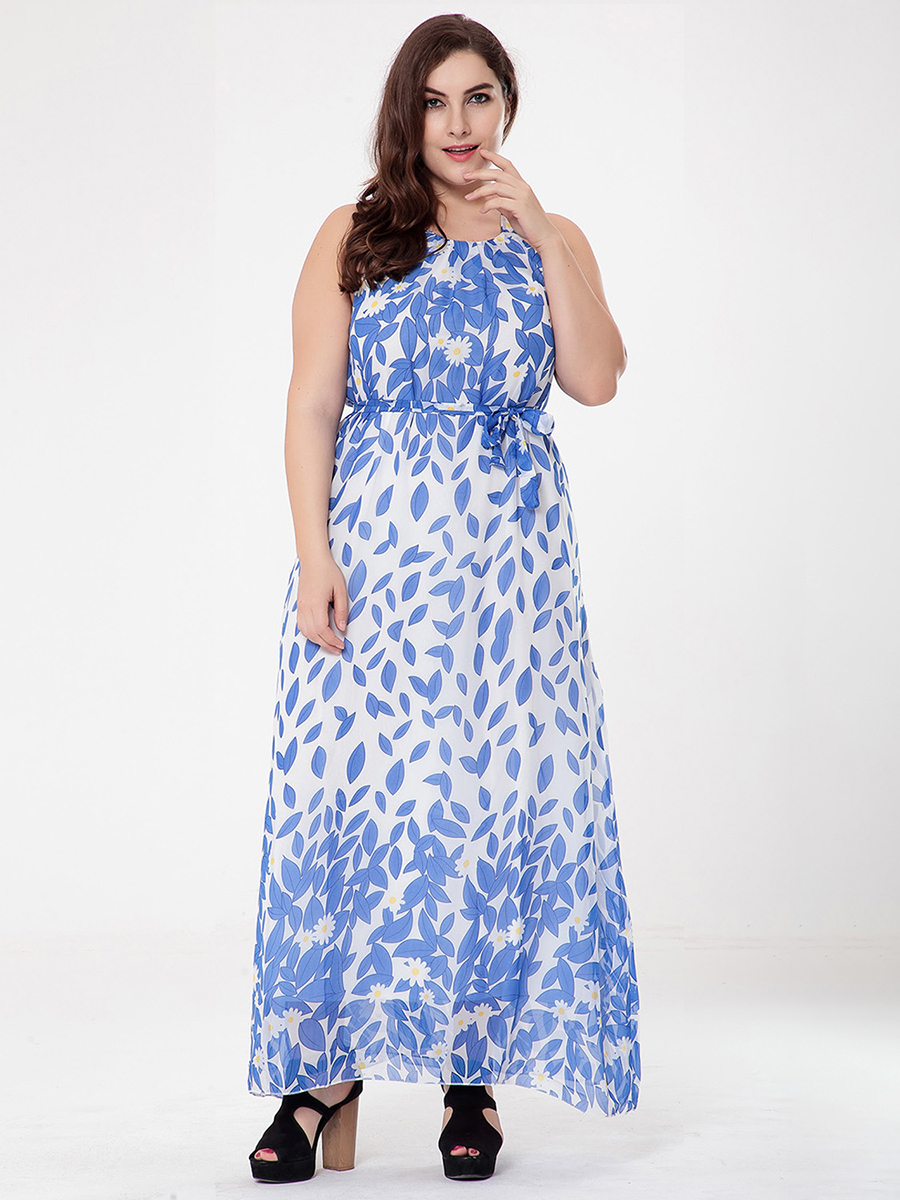 Long Casual Dress in Chiffon