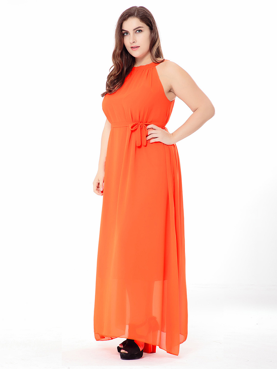 Long Formal Dress in Chiffon