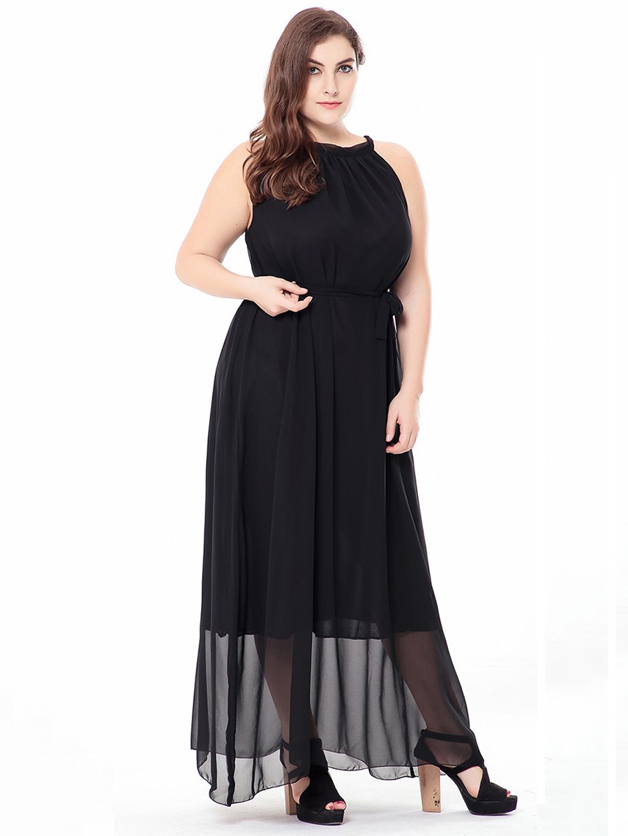 Long Formal Dress in Chiffon