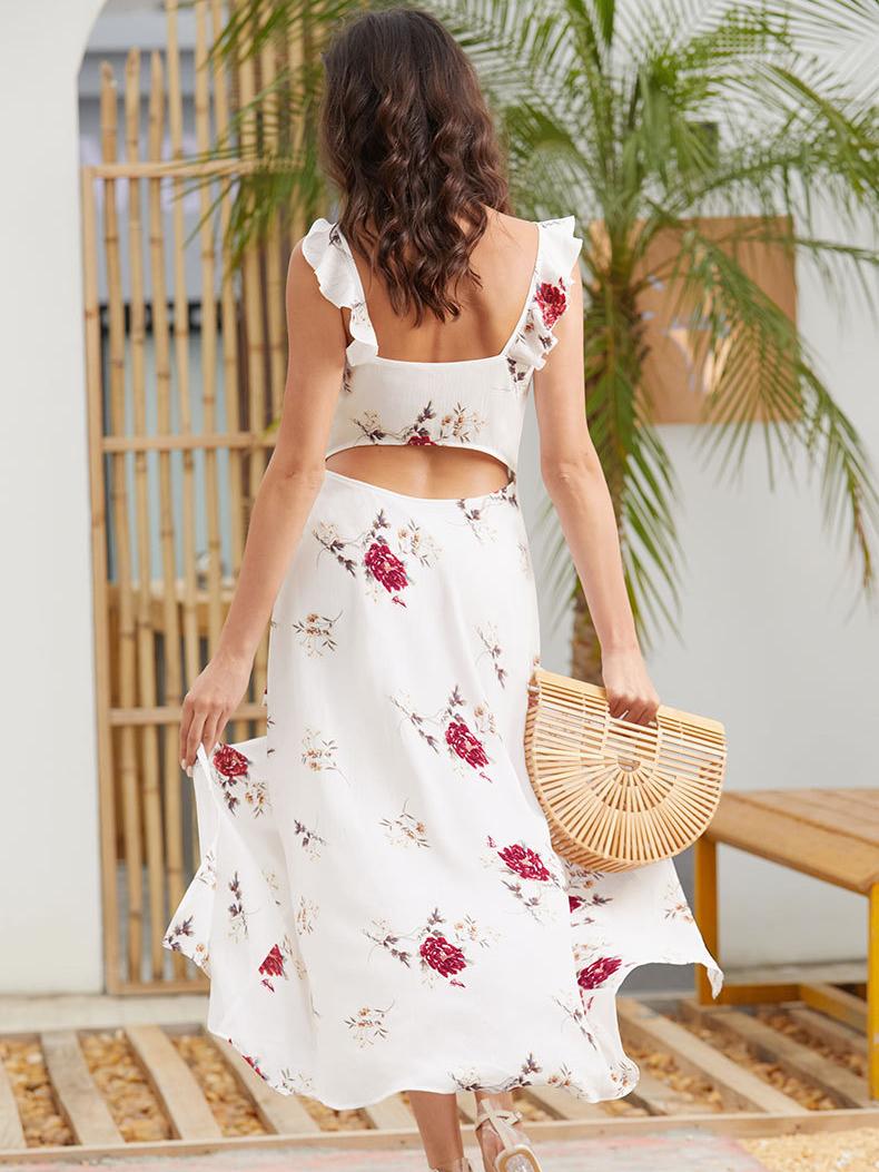 Long and Short Chiffon Casual Dress