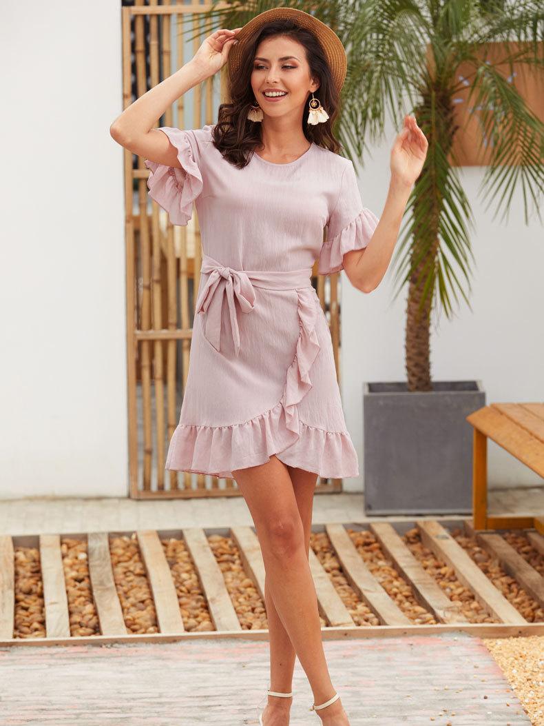 Casual Dress with Petal Skirt