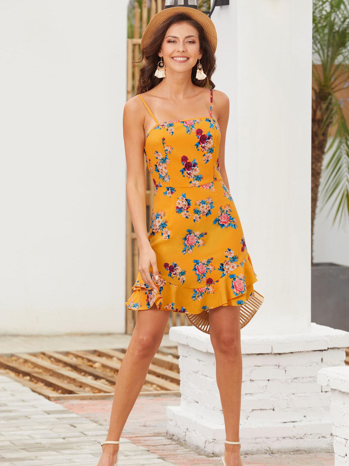 Perky Ruffled Casual Dress