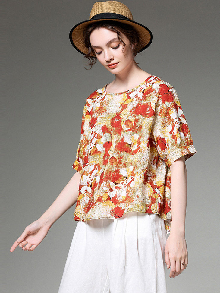 Cotton and Linen Top