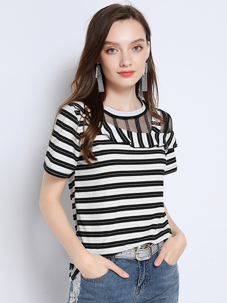 Knit Top with Asymmetrical Details
