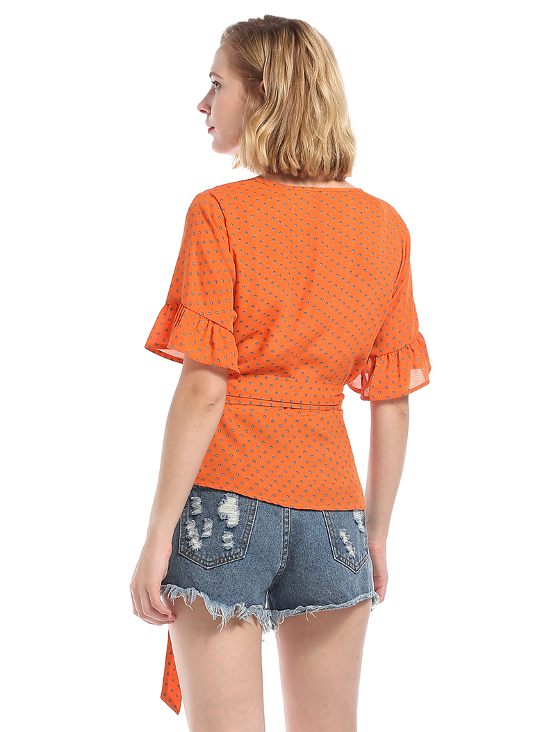 Wrapped Top with Sleeves