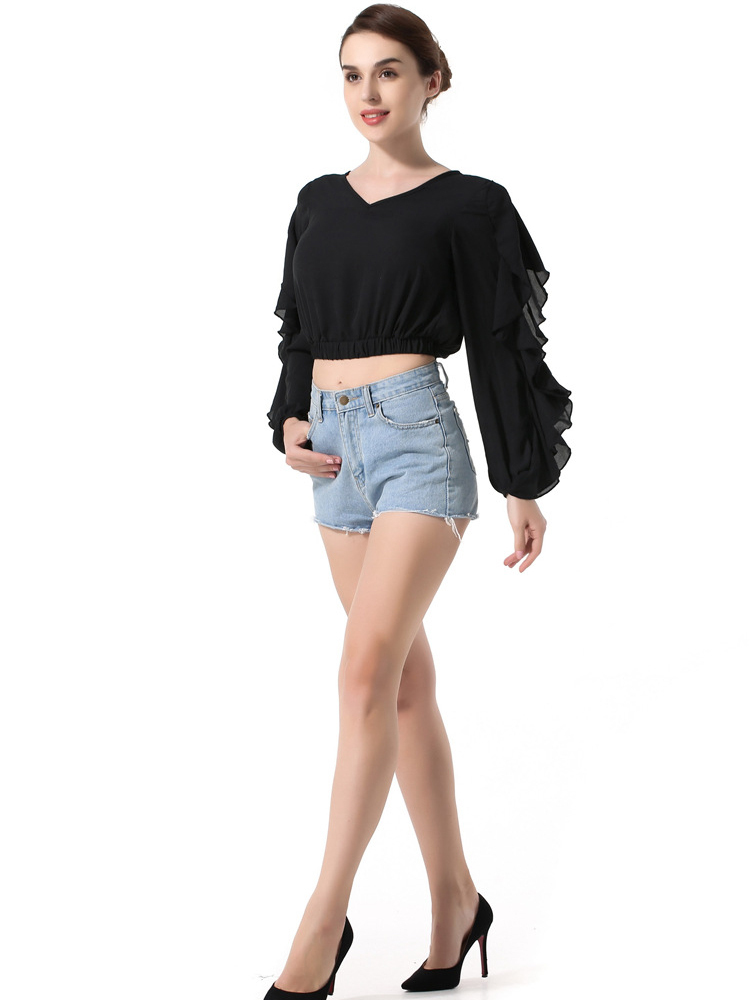 Cropped Top with Unique Sleeves