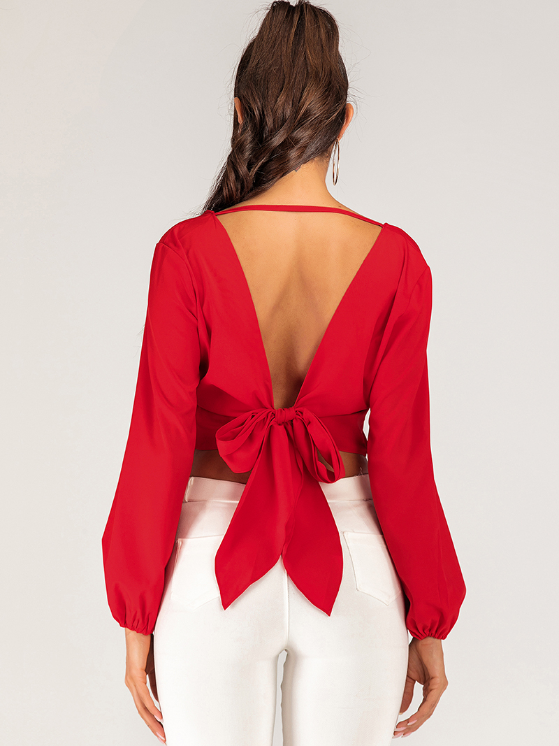 Cropped Top with Tied Front