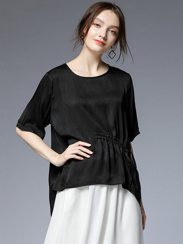 Loose Top with Drawstring