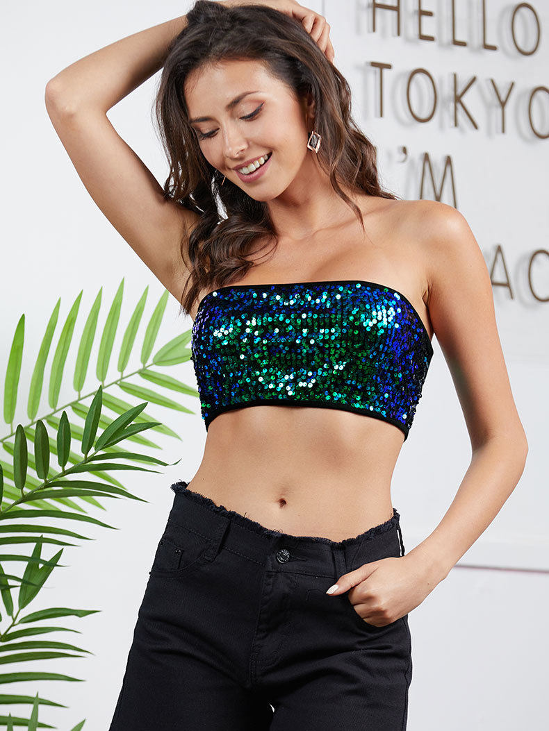 Sequined Tube Top