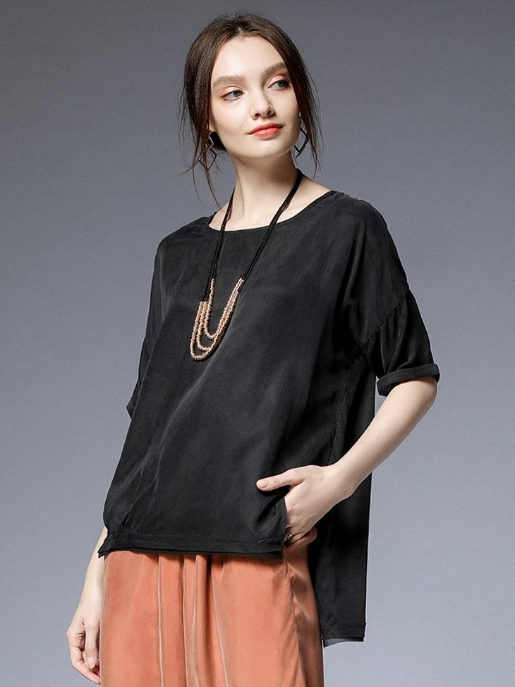 Loose Chiffon Tunic Top