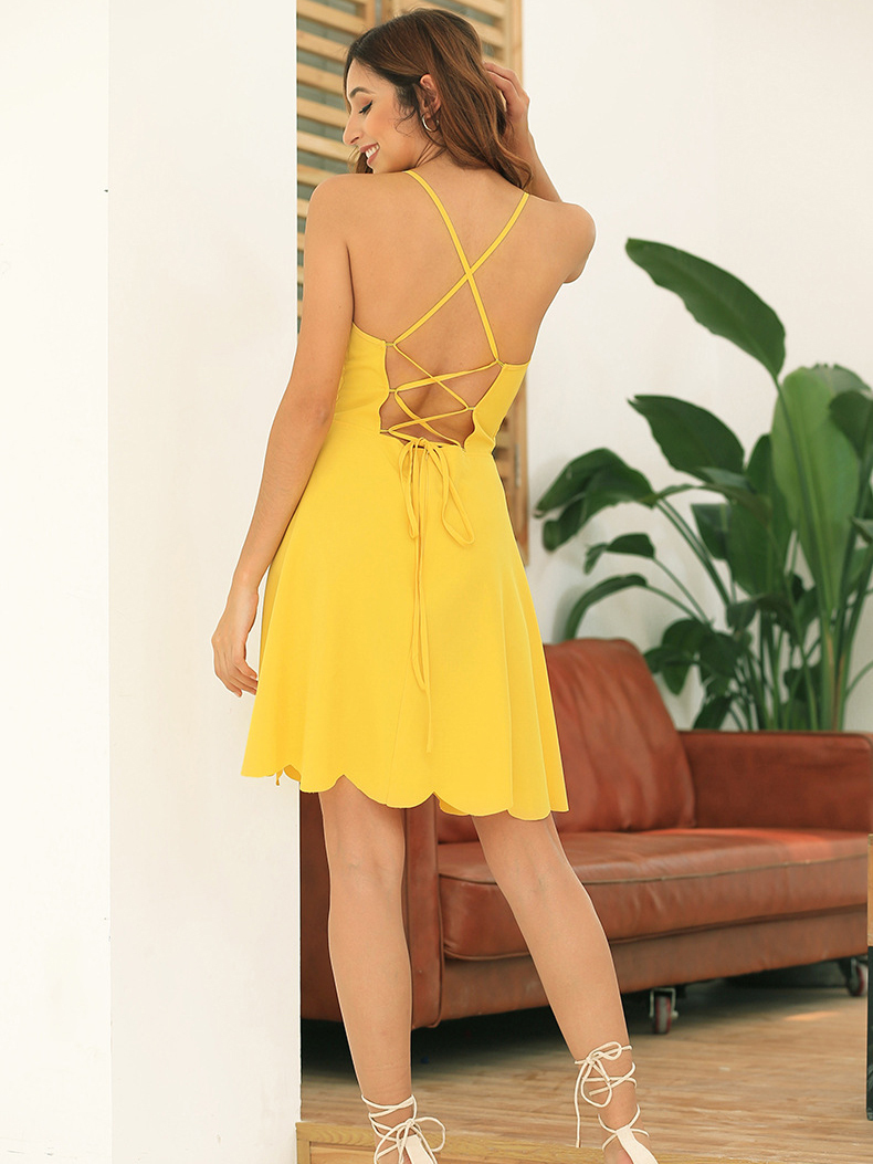 Cocktail Dress with Strappy Back