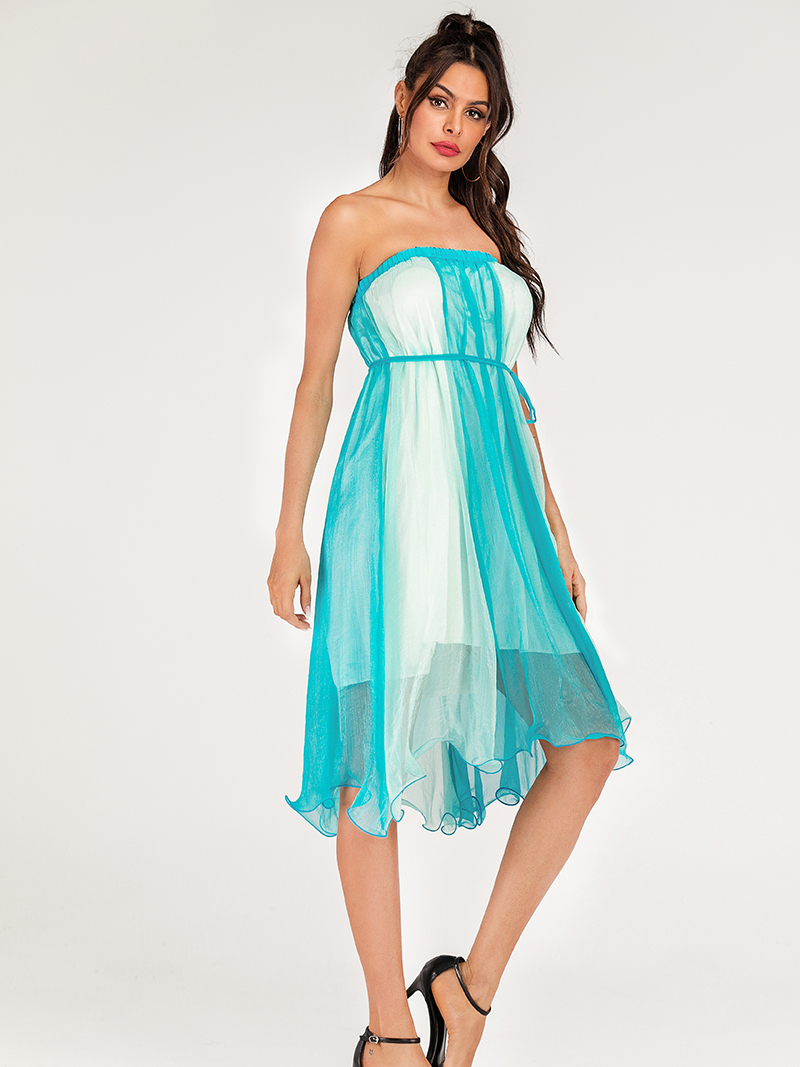 Strapless Casual Dress with Optional Belt