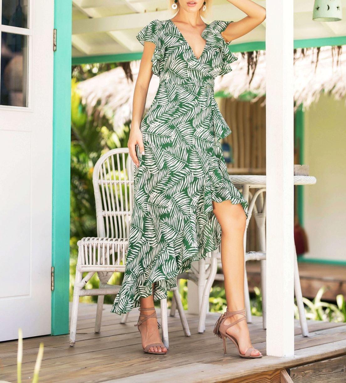 Jade Green Women's Surplice Dress
