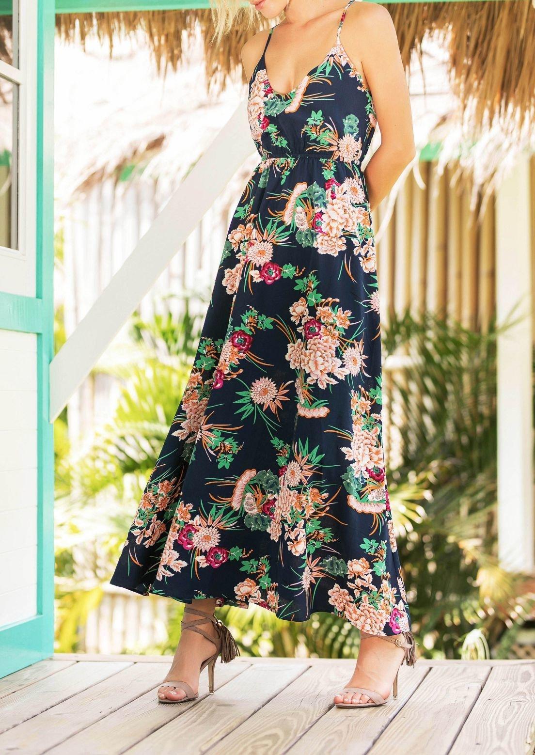 Floral Slip Dress with Full, Floaty Skirt