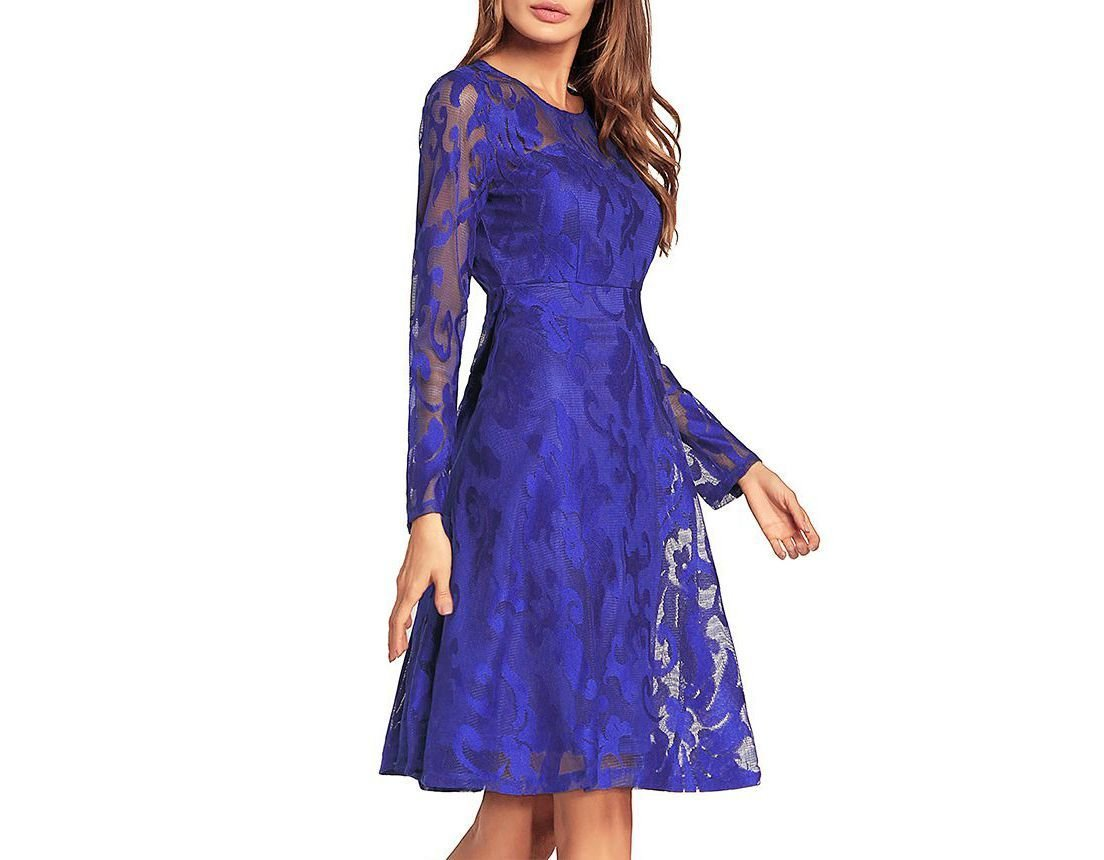 Vintage Hollow-Out Lace Dresses for Women