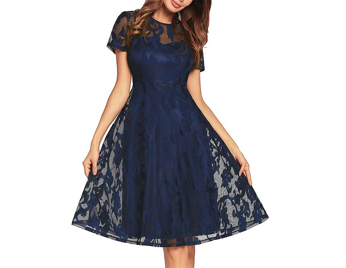 Vintage Lace Empire Dresses for Women