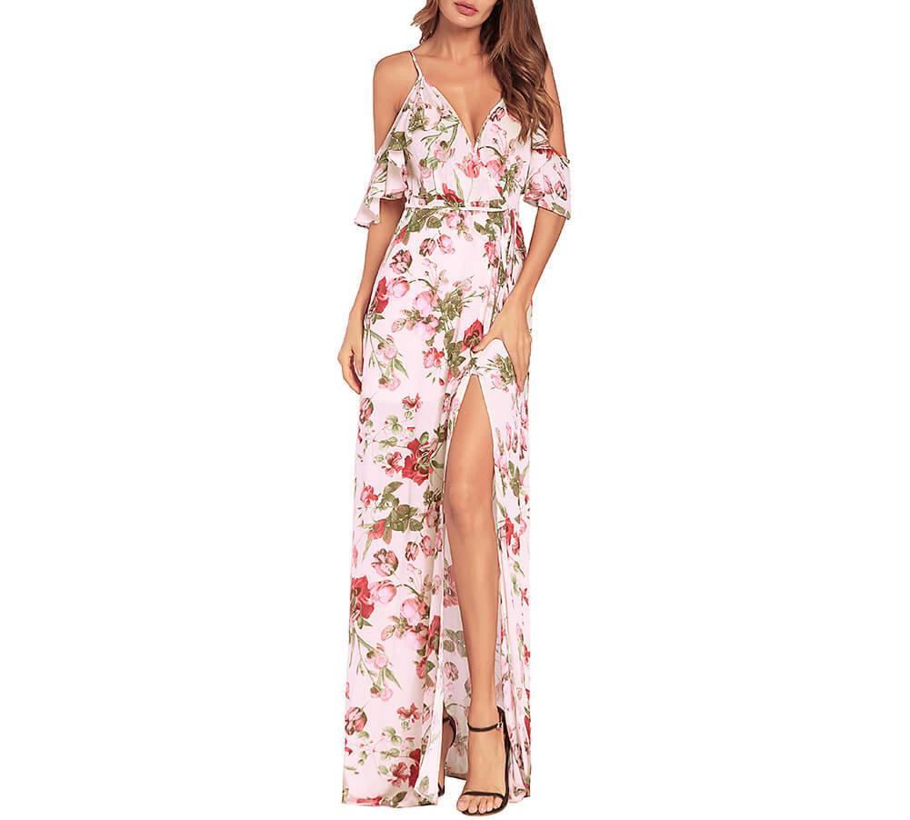 7d42729bcb NEW TAYLOR s Refreshing Summer Long Slip Dress in Floral Chiffon