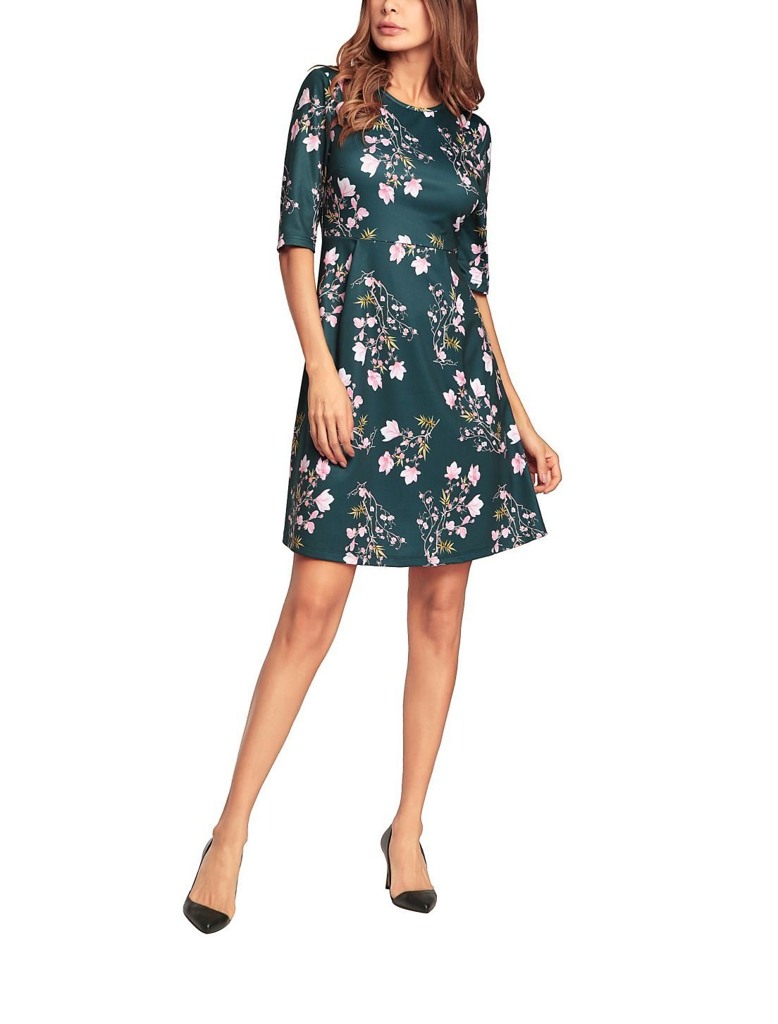 Basic Floral Knit Dress