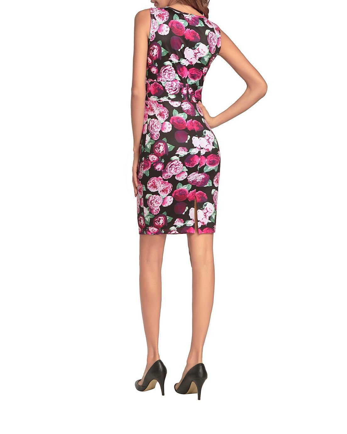 Sleeveless Floral Dress for Work or Play