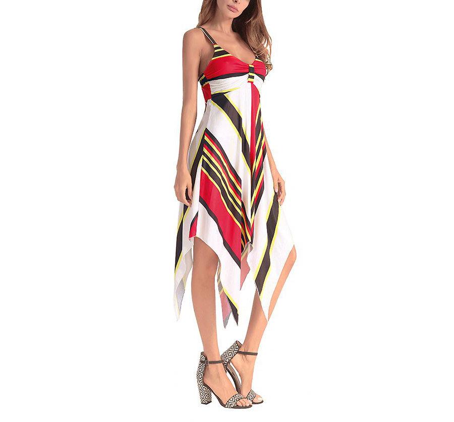 Cocktail Dress with Asymmetrical Hem