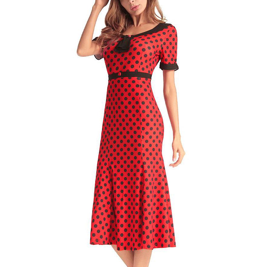 Polka Dot Dress for Work