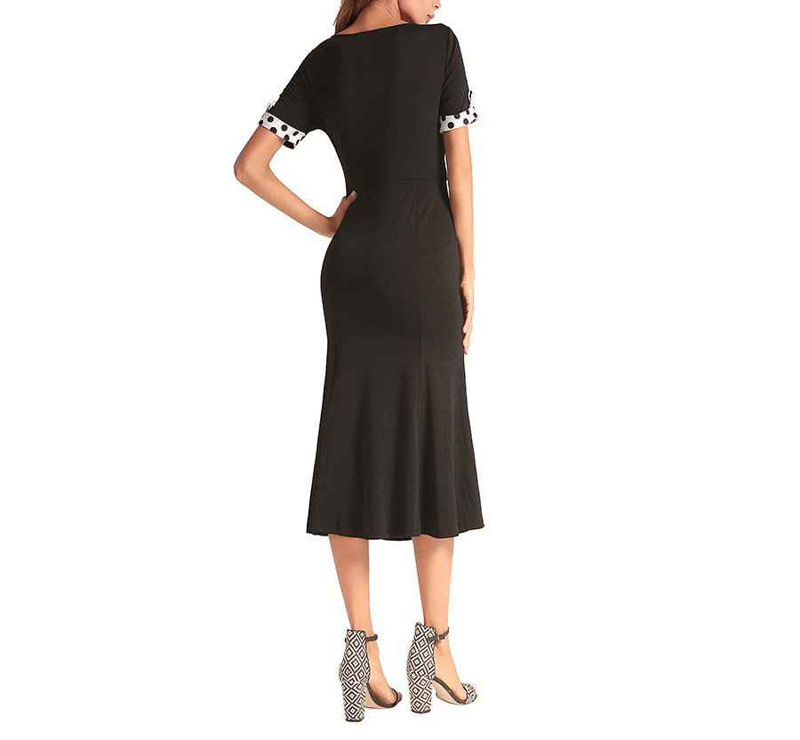 Work Dress with Princess Shaping and Contrast Trim