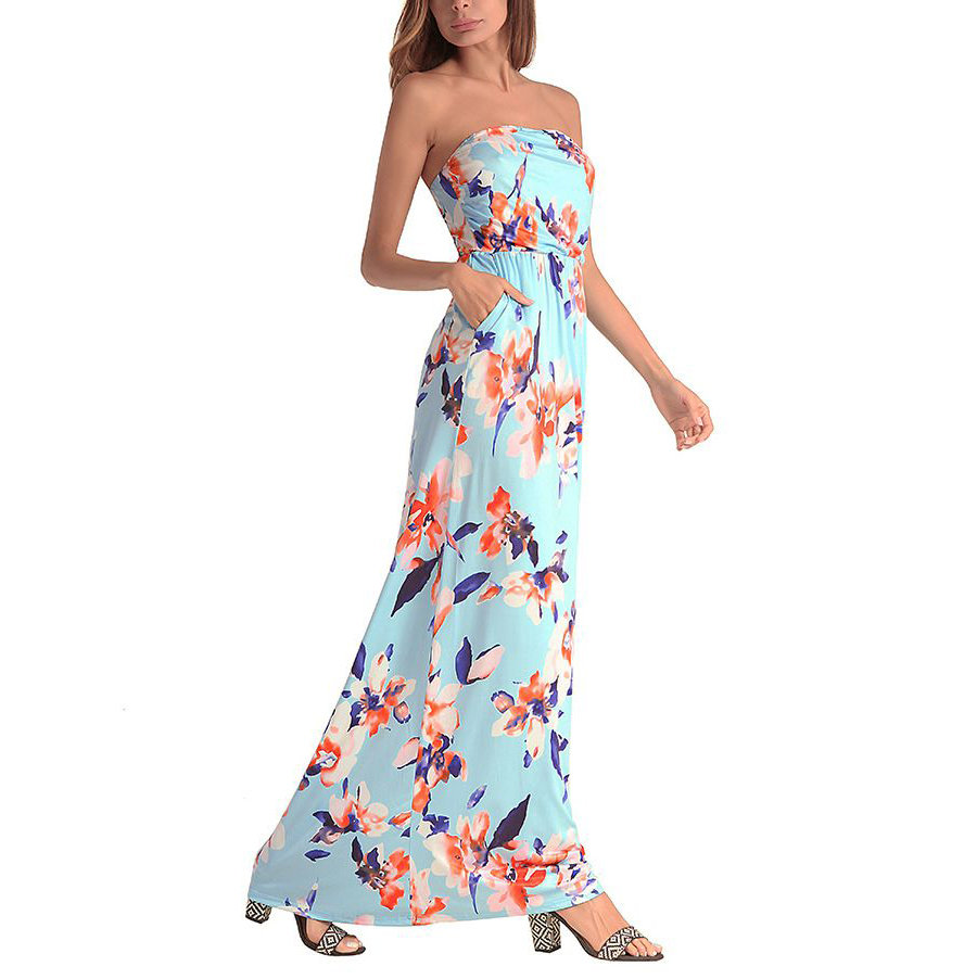 Strapless Casual Dress for Summer