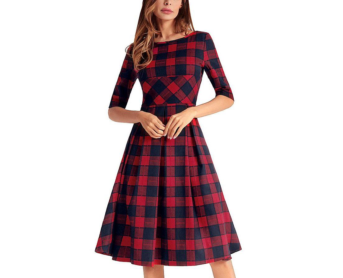 Plaid Dress for Work