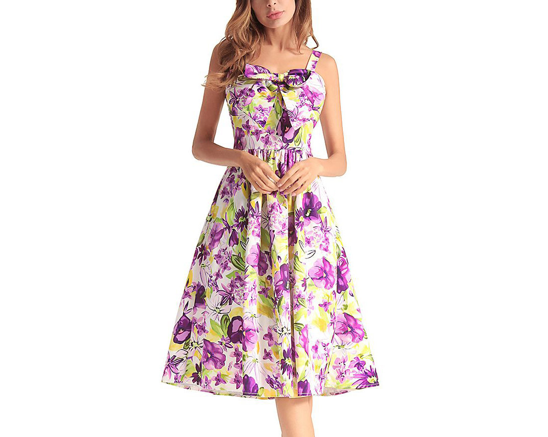 Casual Dress with Bow Front