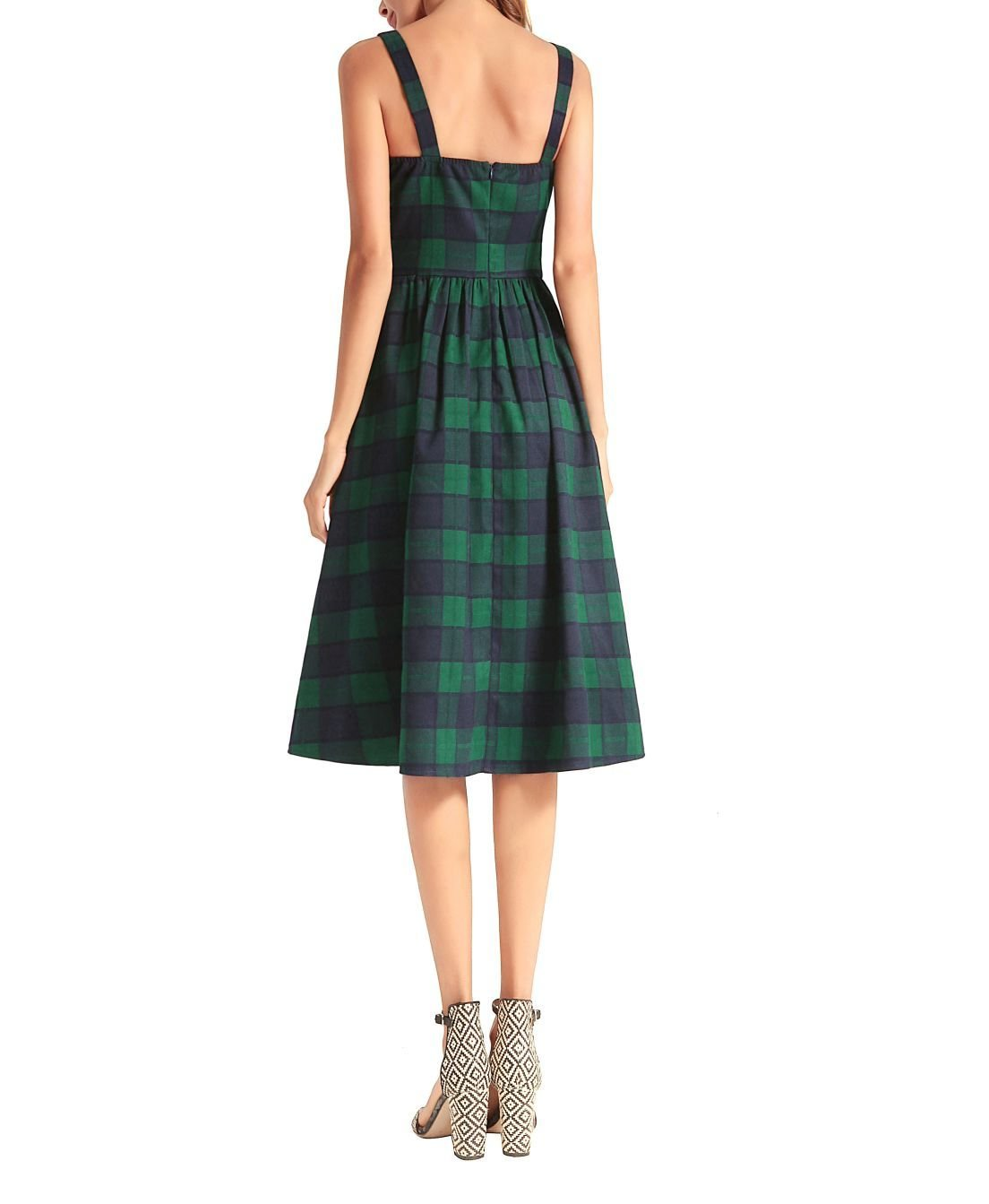 Perky Plaid Casual Dress