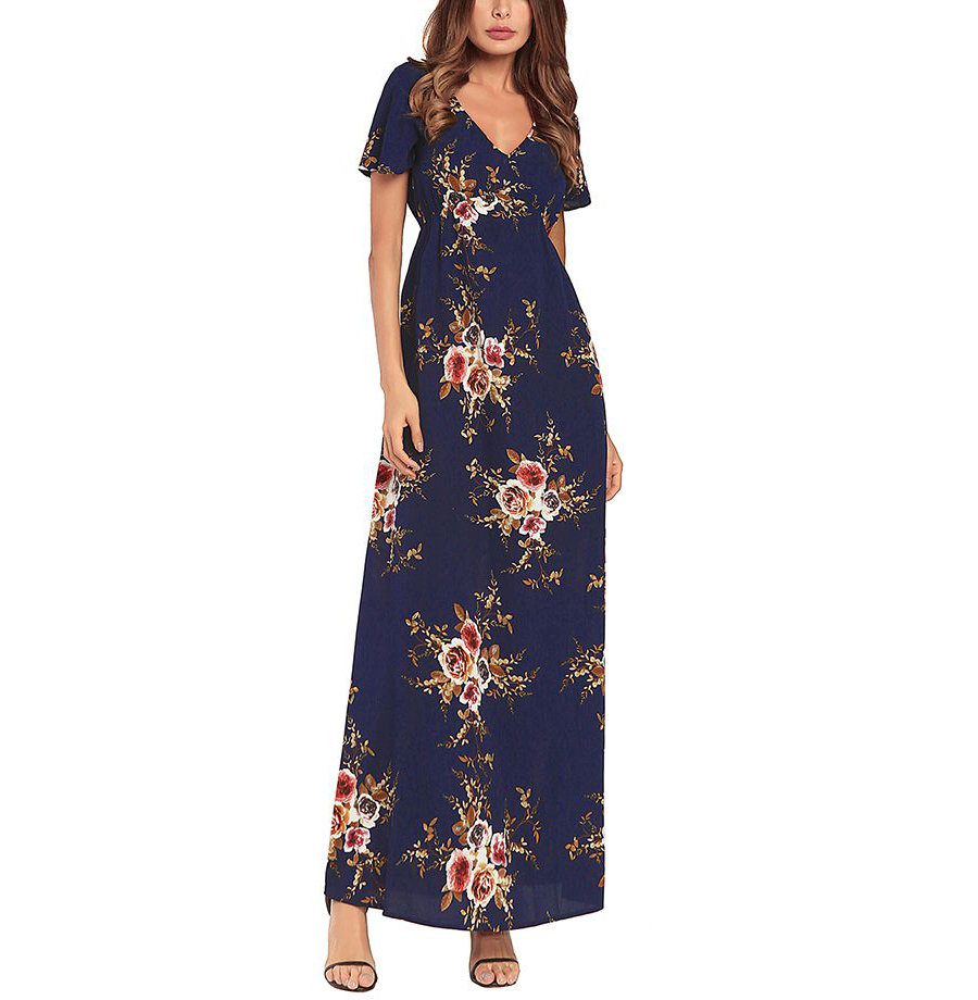 Casual Dress with Empire Waist and Flutter Sleeves