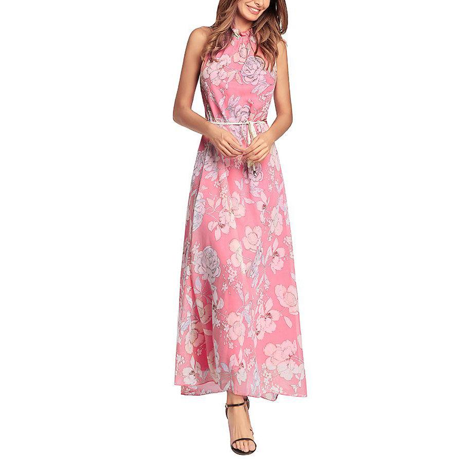 Floral Chiffon Formal Dress
