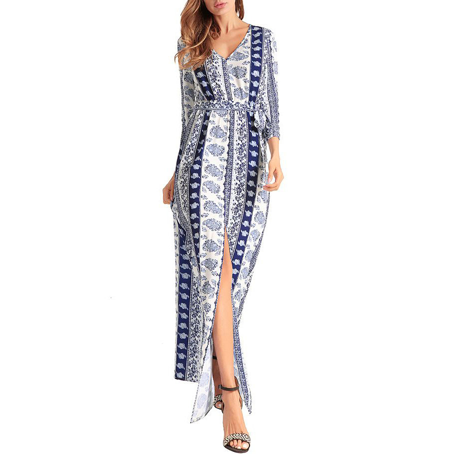 Casual Dress with Patterned Stripes