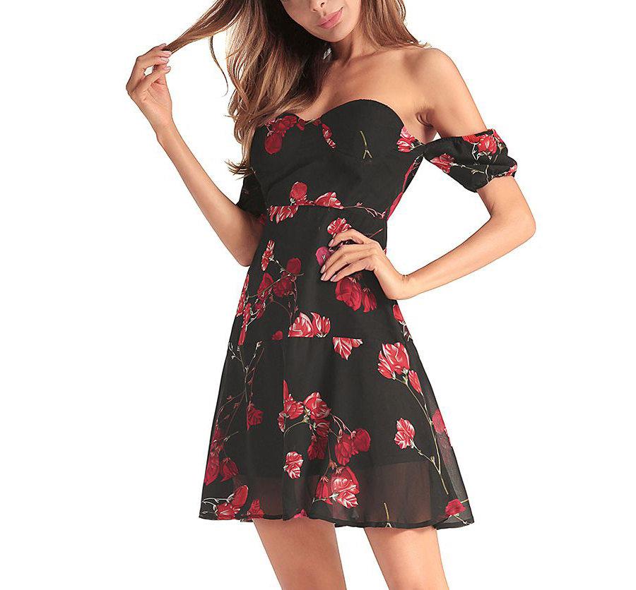 Strapless Short Formal Dress in Chiffon