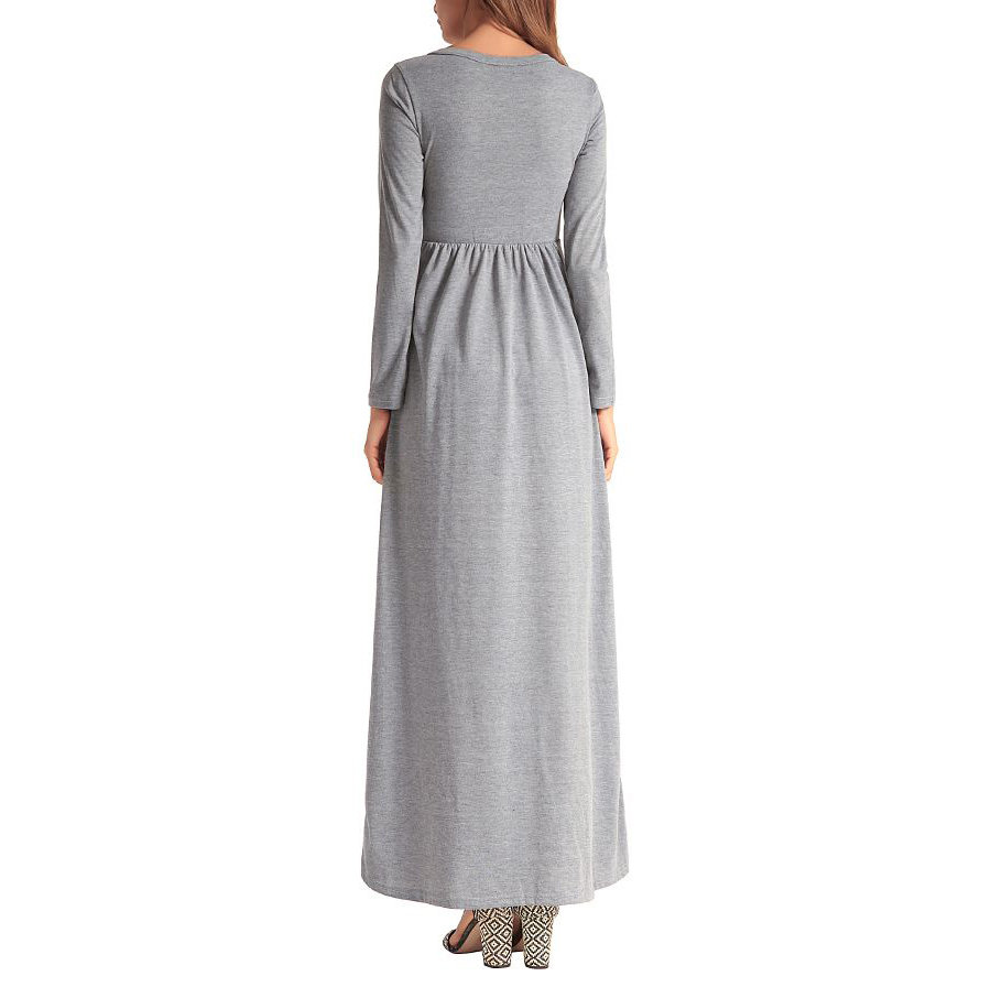Knit Casual Dress with Long Sleeves