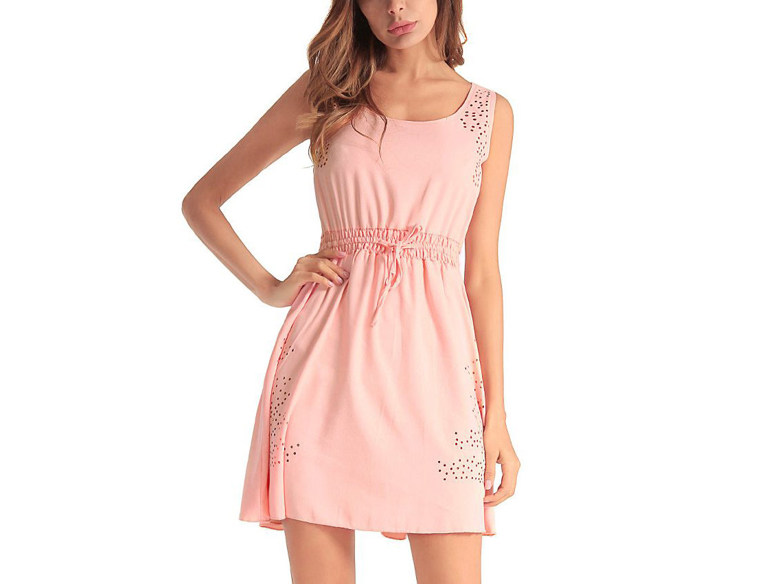 Casual Dress with Drawstring Waist