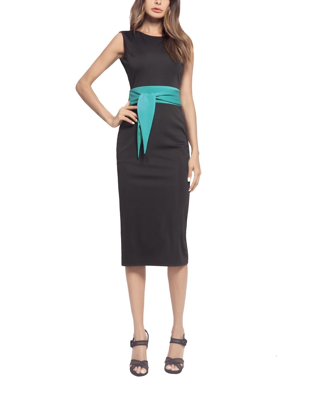 Sleeveless Column Dress for Work