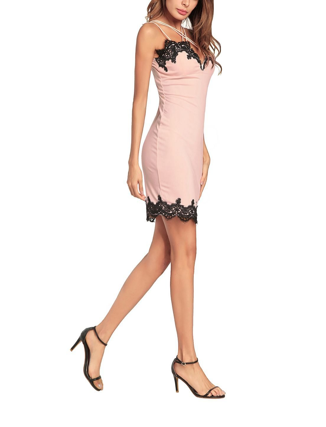 Sexy Formal Dress with Lace Trim