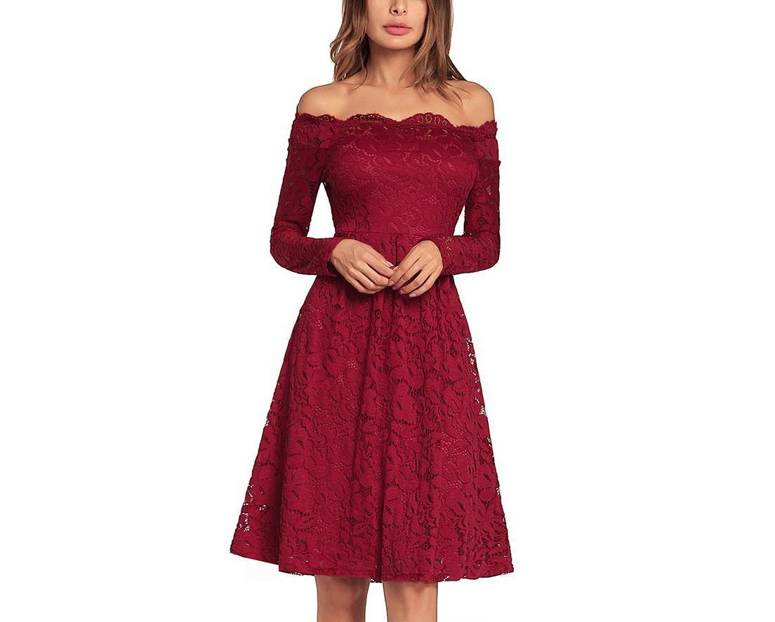 Allover Lace Formal Dress with Long Sleeves