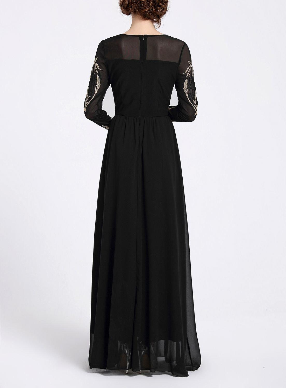 Elegant Formal Dress in Sheer Fabric