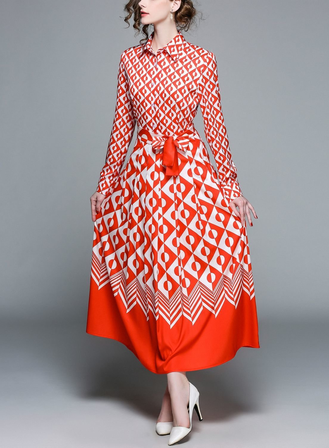 Geometric Work Dress