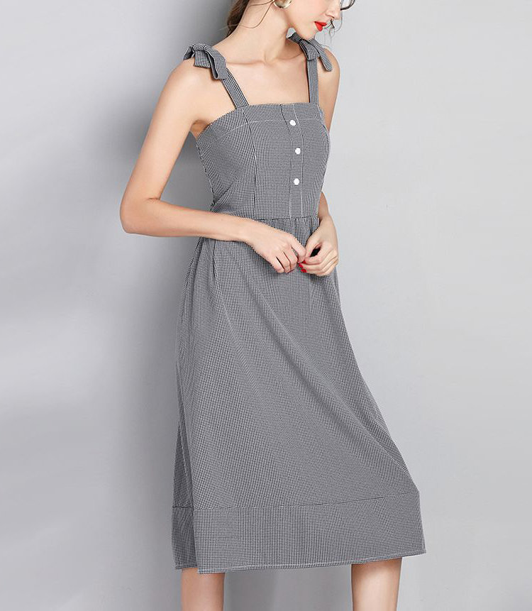 Casual Dress with Shoulder Bows