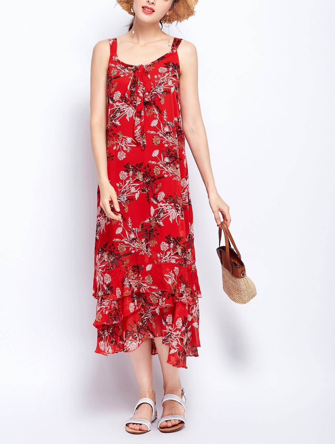Casual Dress in Sleeveless Shift Silhouette