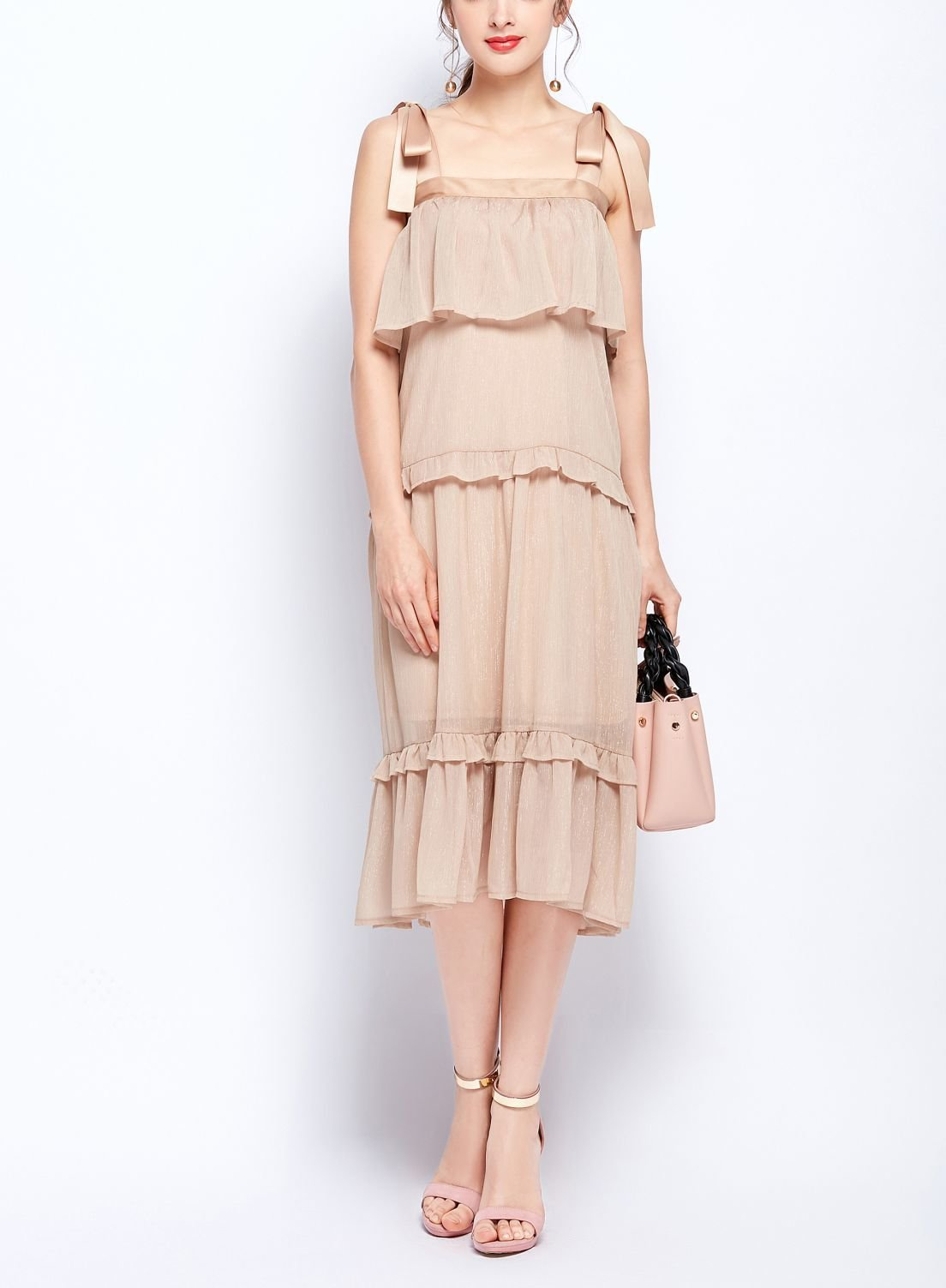 Chiffon Ruffles Formal Dress