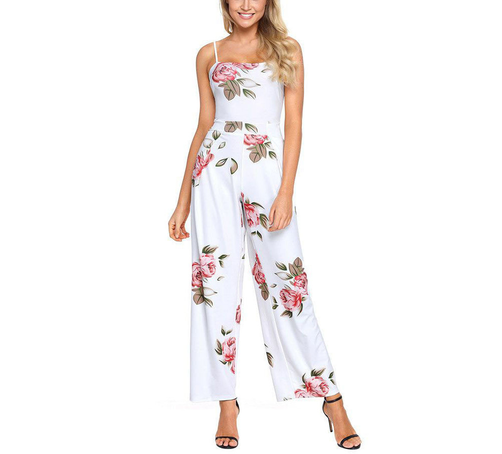 Long Jumpsuit with Bow Back