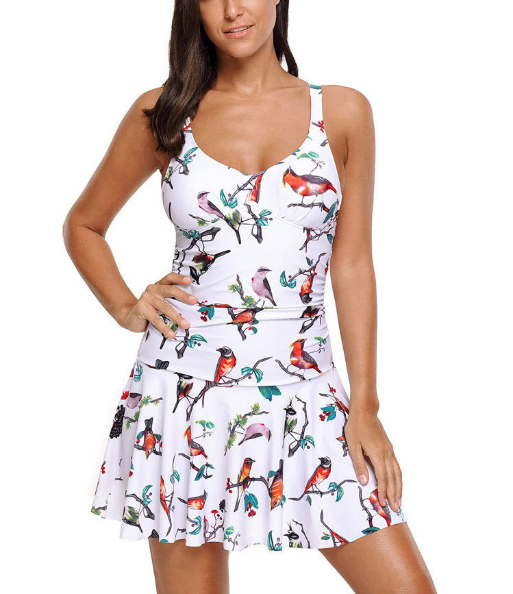 Two-Piece Swimsuit with Full Skirt