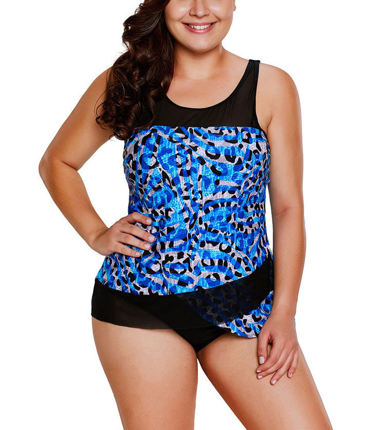One-Piece Swimsuit with Ruffle Trim and Halter Neck