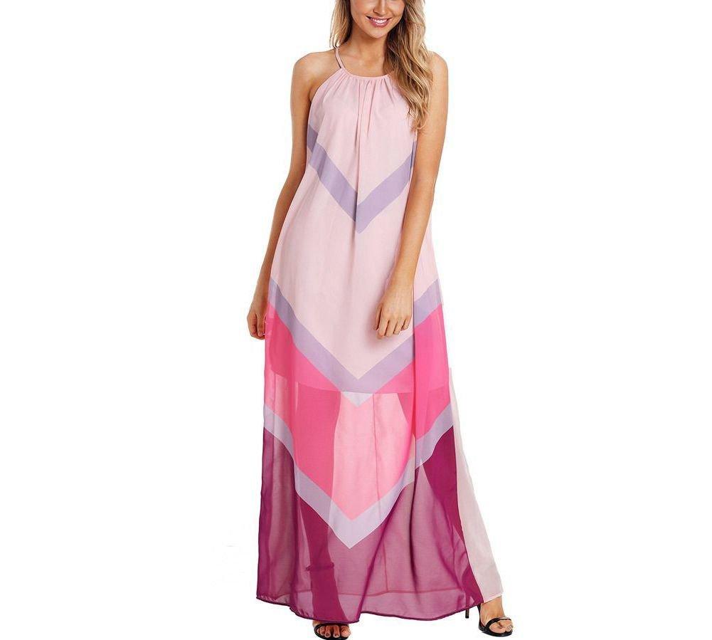 Geometric Print Long Casual Dress
