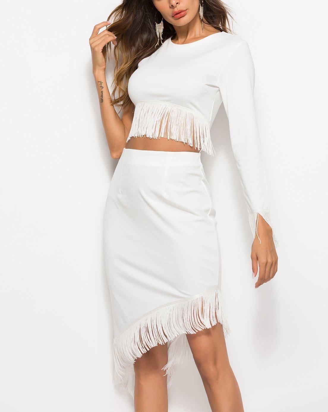 Two-Piece Club Dress with Fringe