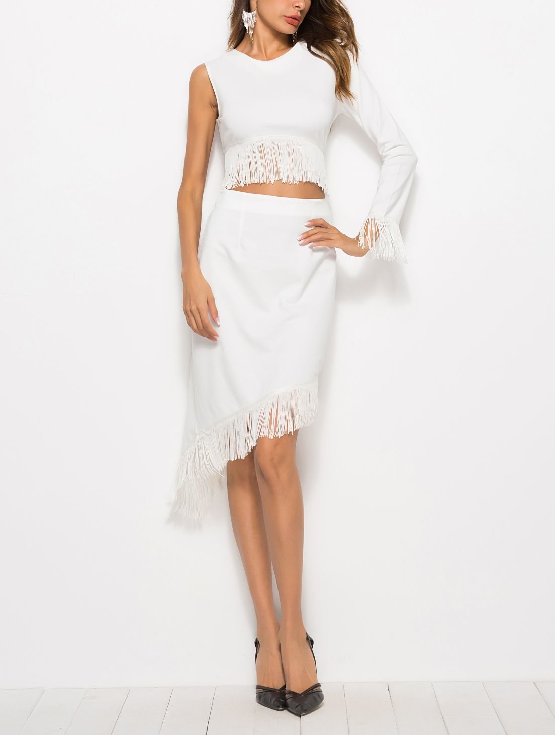 Two-Piece Club Dress with Fringe